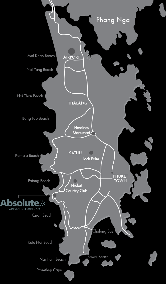 twin sands map of phuket