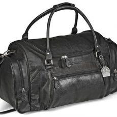 Elegant Leather Weekend Bag