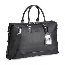 Simulated Leather Weekend Bag
